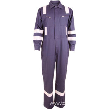 Overall with Reflective Workwear Twill Coverall